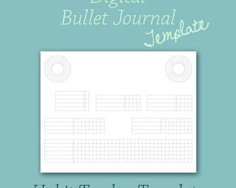 Habit Tracker Template for Digital Bullet Journal Planner