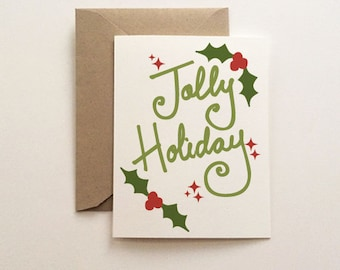 Jolly Holiday Christmas Card