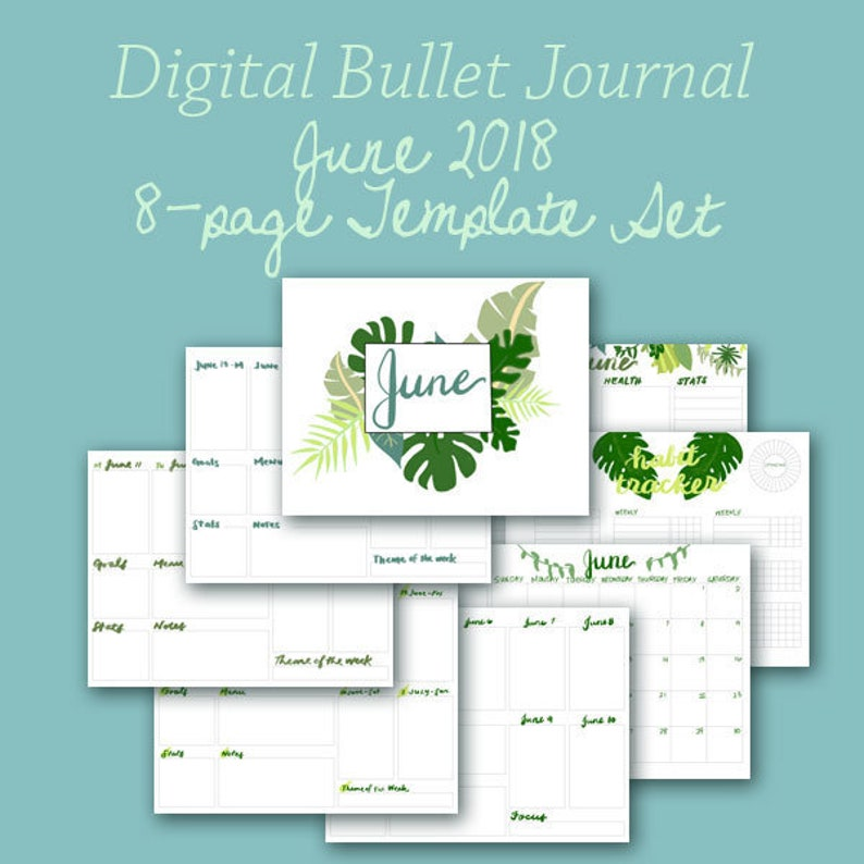 June Planner Template Pages  Instant Download image 0