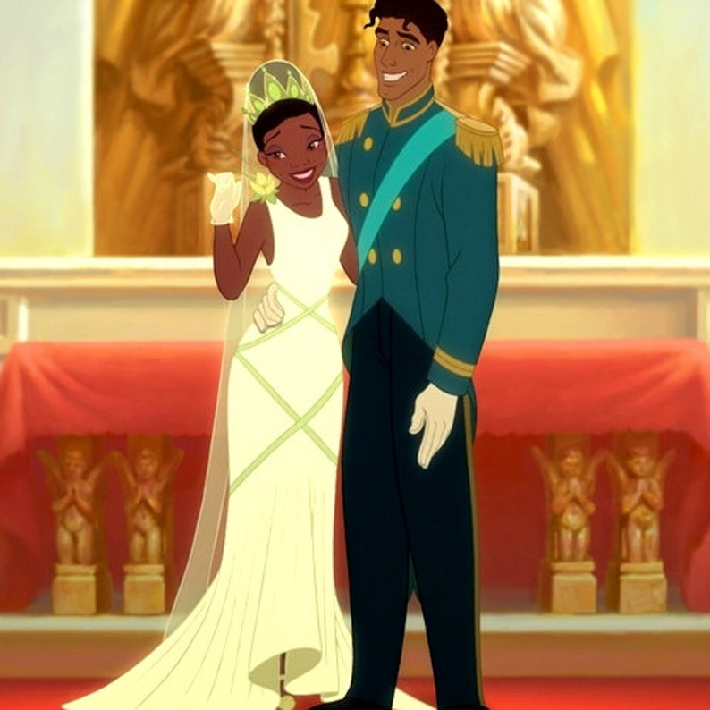 Image result for The Princess and the frog wedding