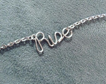 Rise Necklace or Bracelet - Silver Plated, Gold Plated, or Rose Gold Plated - Stand For Something - Jewelry With A Cause - Feminist Necklace