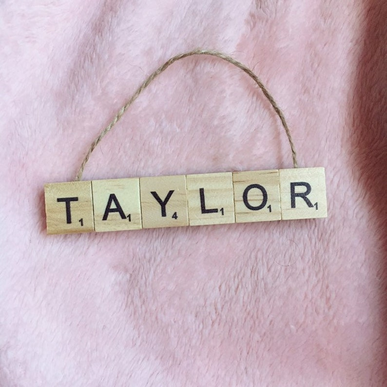 Letter Tile Christmas Tree Ornament  Personalized Name image 0