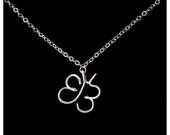 EB Butterfly Necklace - 10% From Sales Directly Donated To DEBRA To Help End Epidermolysis Bullosa - Silver Plated Wire Worked Jewelry