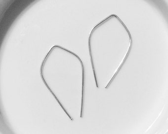 Simple Threader Earrings - Minimalist Earwires - Silver, Gold, or Rose Gold - Simplified Accessories - Modern and Chic