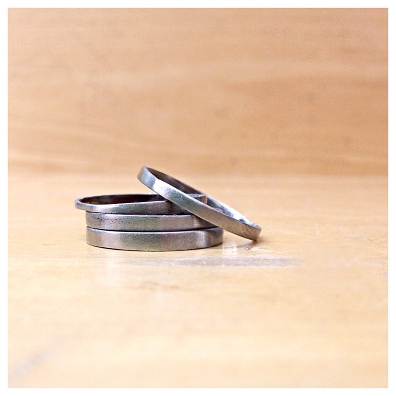 Minimalist Stainless Steel Stacking Rings image 0