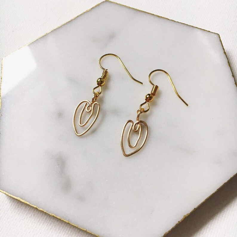 Handcrafted Wire Vulva Earrings  Empowering Female Body image 0