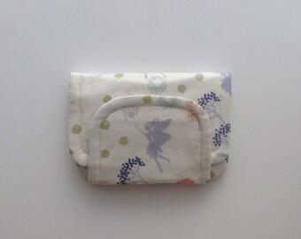 fairy children's fabric wallet / purse . pretty fairies with cream lining . kids coin purse . girls wallet