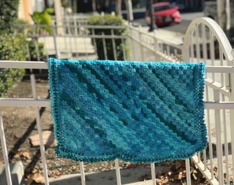 Baby Blanket in Turquoise