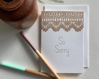 Letterpress Sympathy Card - Crocheted Pattern