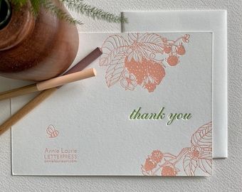 Thank You Letterpress Cards