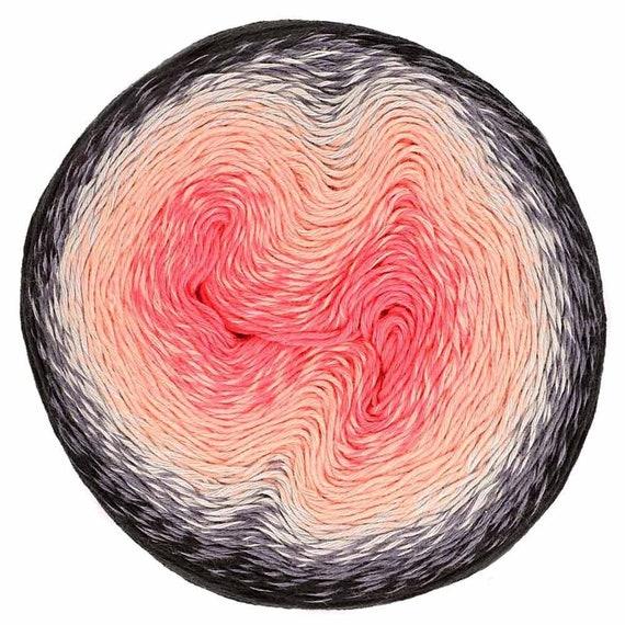 Scheepjes Whirl Ombre yarn cake gradient cotton acrylic #555 Forbidden Fuchsia