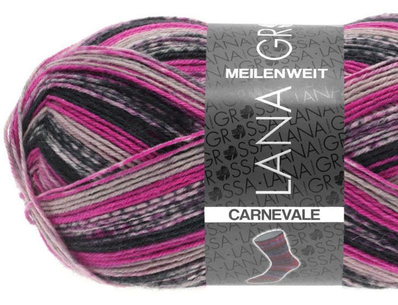 Lana Grossa Meilenweit Sock Yarn 4-ply superwash 100g Carnevale #5504