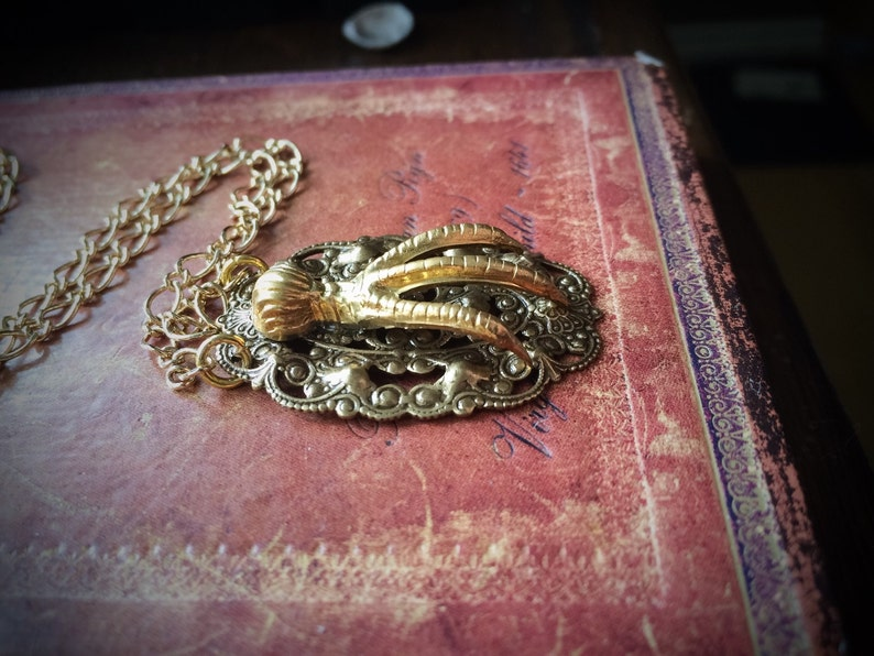 Golden Claw Necklace