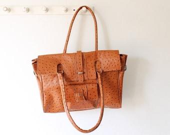 03b97d3460aa vintage ostrich leather bag
