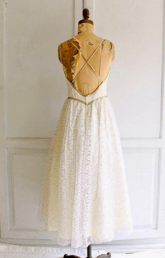 vintage Gunne Sax dress white lace wedding dress … - image 2
