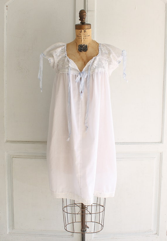 vintage white cotton nightgown Victorian nightgow… - image 3