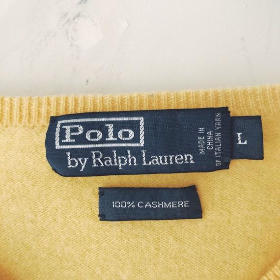 vintage cashmere sweater 80s Polo Ralph Lauren ye… - image 3