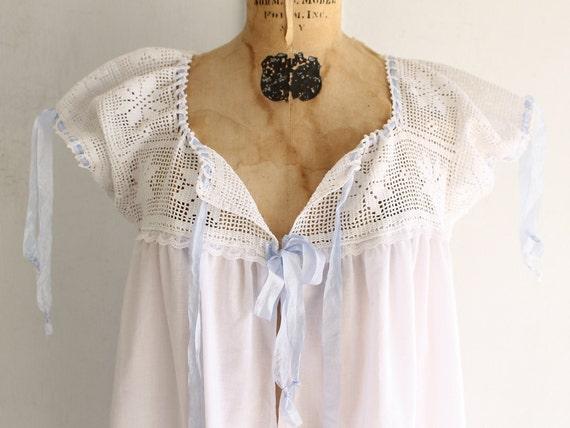 vintage white cotton nightgown Victorian nightgow… - image 2