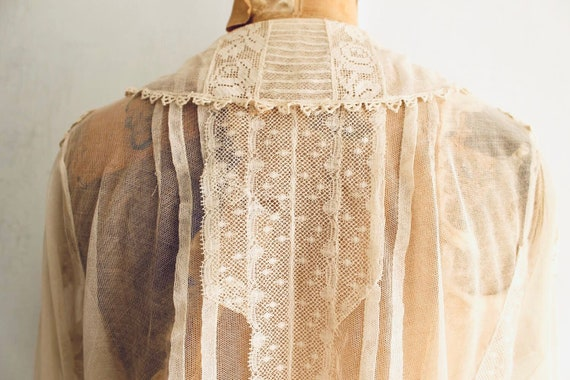 Edwardian lace blouse antique lace collar blouse - image 7