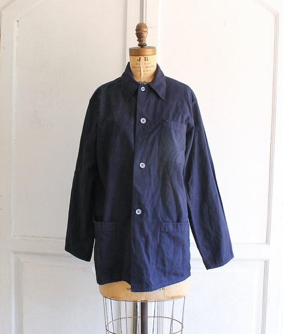 vintage indigo chore jacket deadstock chore coat v