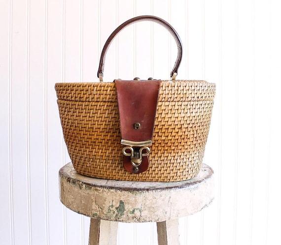 70s vintage basket bag Etienne Aignier basket purs
