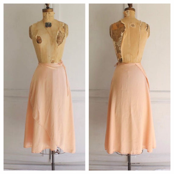 70s satin ballet skirt vintage satin wrap skirt