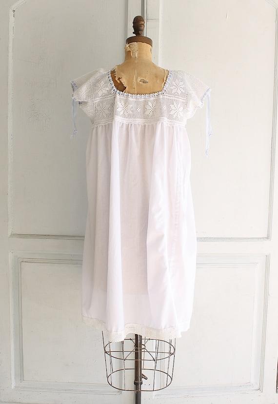 vintage white cotton nightgown Victorian nightgow… - image 5