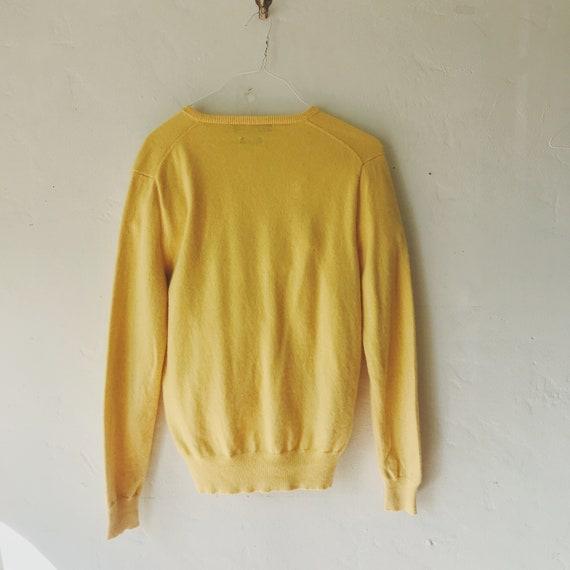 vintage cashmere sweater 80s Polo Ralph Lauren ye… - image 2