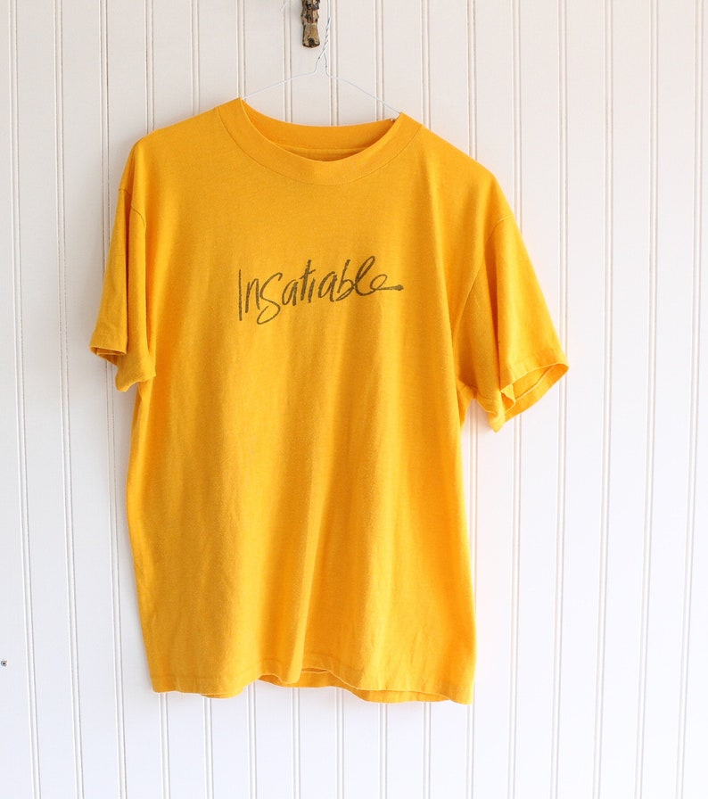 be57cafddaea1 70s vintage t shirt yellow t shirt 70s vintage graphic t shirt womens made  in USA