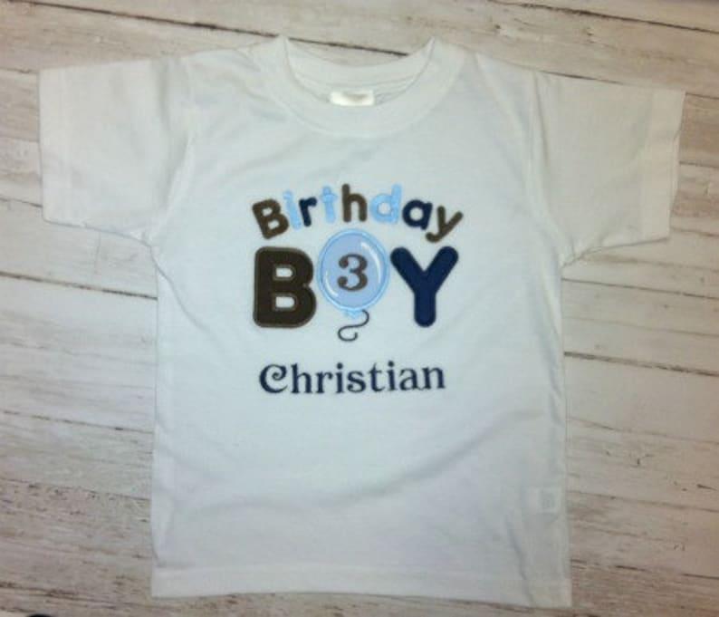 Birthday Boy Balloon Custom Birthday Shirt Onesie Tank Top 1st 2nd 3rd 4th 5th Birthday Photos
