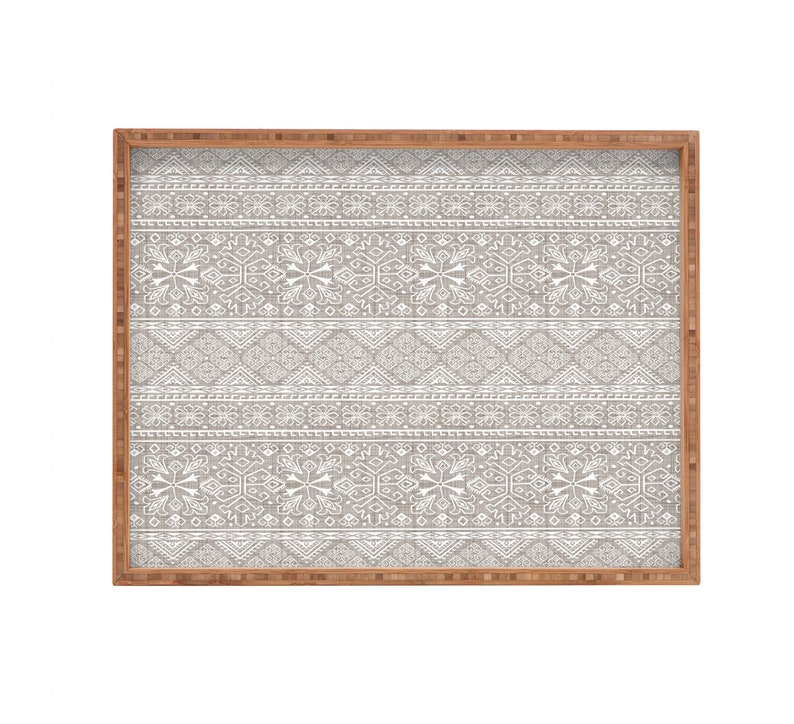 Serving Tray  Boho Tray  Neutral Home Decor  Rectangular Tray  Bamboo Tray  Decorative Tray  Ottoman Tray  Boho Home Decor  Moroccan