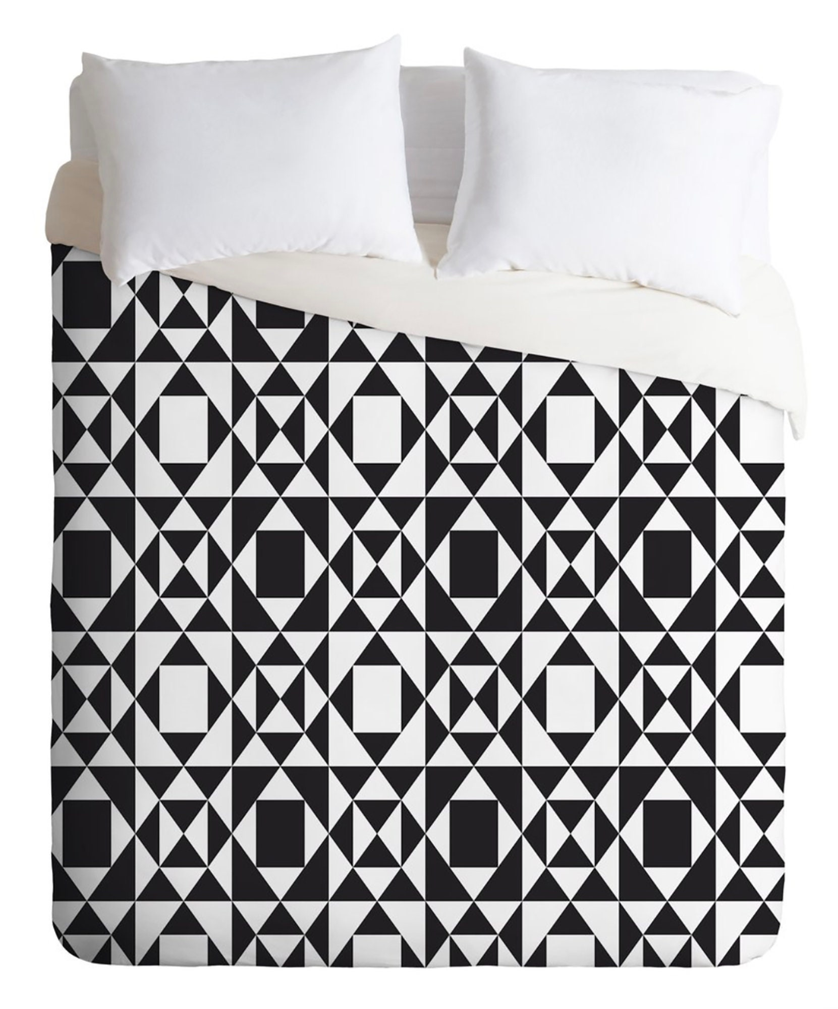 Couverture de couette noire et blanche // Literie // Twin, Queen, King Sizes // Home Decor // Rhythm Design // Tribal Pattern // Modern Geometric Print