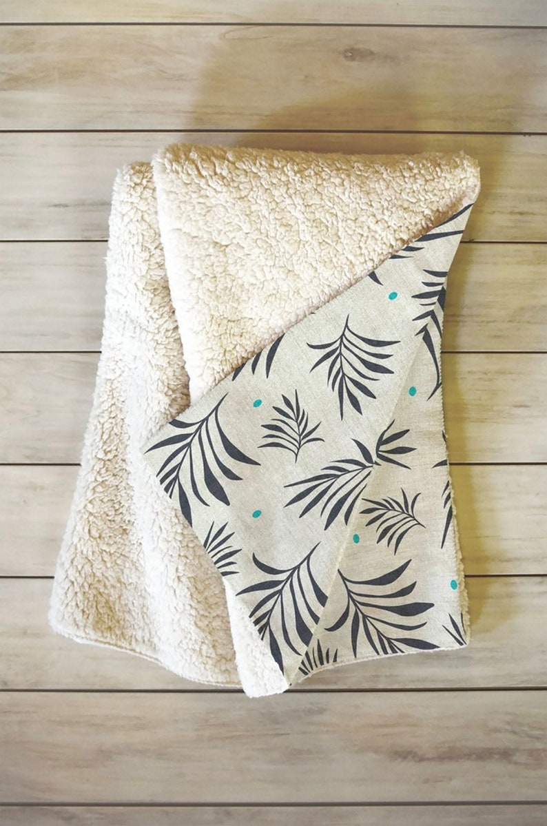 "NEW Ultra Plush Tropical BOHO Elephant Fleece Throw 50/""x 60/"""