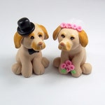 Labrador Cake Topper, Pet Cake Topper, Dog Figurine, Wedding Cake Topper, Customized figurine, Cute Cake Topper, Handmade Figurine