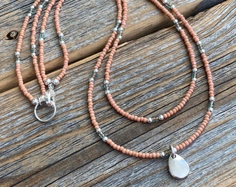 Details about  /U/&C Sundance Sterling Silver Open Heart Sideways .925 Chain Delicate Necklace