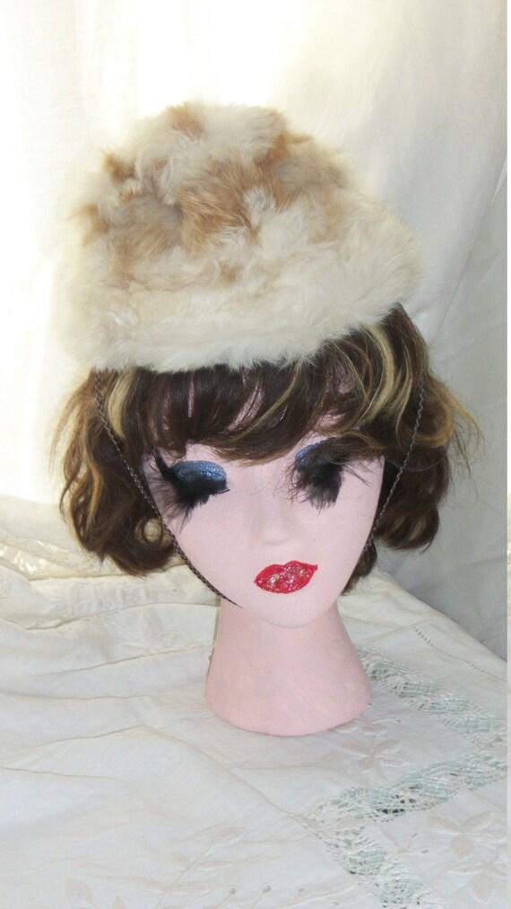Antique Edwardian Rabbit Fur Hat Multi Childs or A