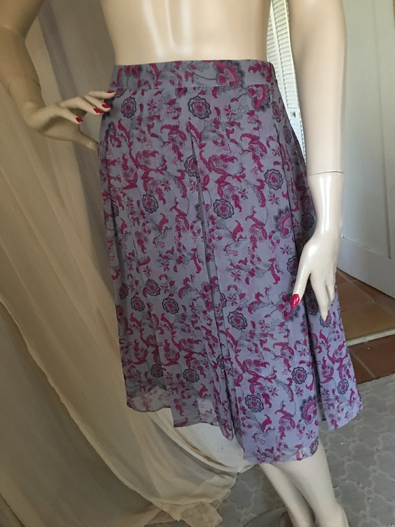 1920s Style Frock Set Day Dress Contrasting Print… - image 9