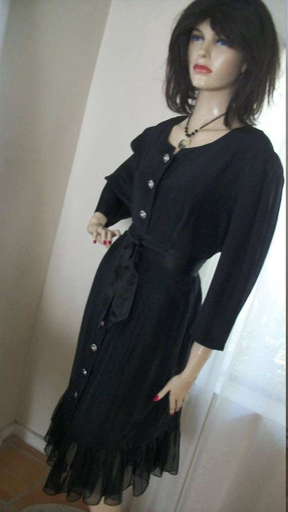 Vintage Edwardian Goth Style Dress Redesigned Abou
