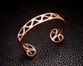 Copper cuff, Copper bracelet, Copper wire, cuff bracelet, Unique cuff, bracelet, jewelry