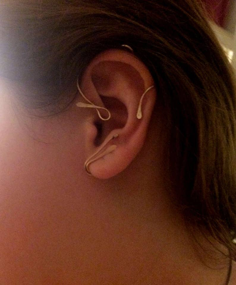 Beautiful inspiration Beauty and the Beast Vine Jewelry Ear image 0