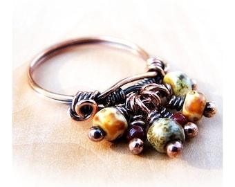 Wire Wrap Lesson Bead Dangle Ring Tutorial PDF