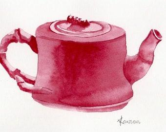 Teapot ~ Original watercolor