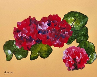 Red flowers ~ original collage