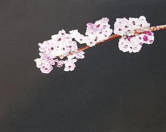 Pink Spring blossoms ~ Original collage