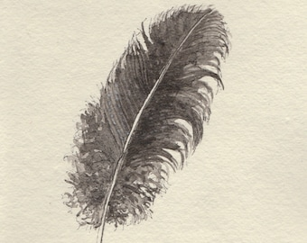 Messy ink feather -- Original drawing