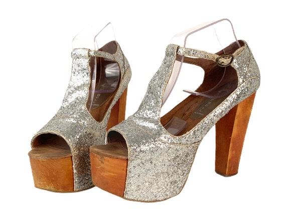 8 Jeffrey Campbell FOXY-WOOD T-Strap Platform Heel