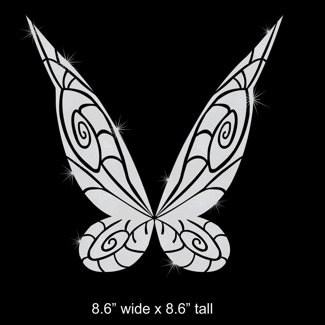 choice of tinkerbell wings iron on glitter disney transfer diy etsy