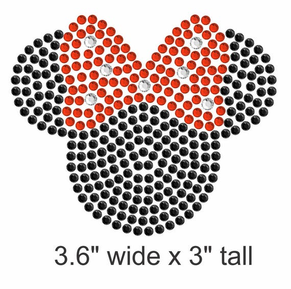 """7/"""" Clear Beauty and the Beast iron on rhinestone transfer applique Disney decal"""