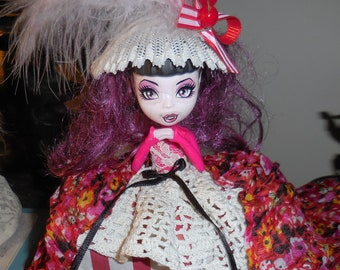 Miss Prudence Tisdale Ready for the Dance In Her Pannier Ball Gown    Big Eyed Art Doll