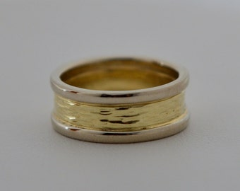 River Ring, 14k Gold Wedding Bands, Made in Maine